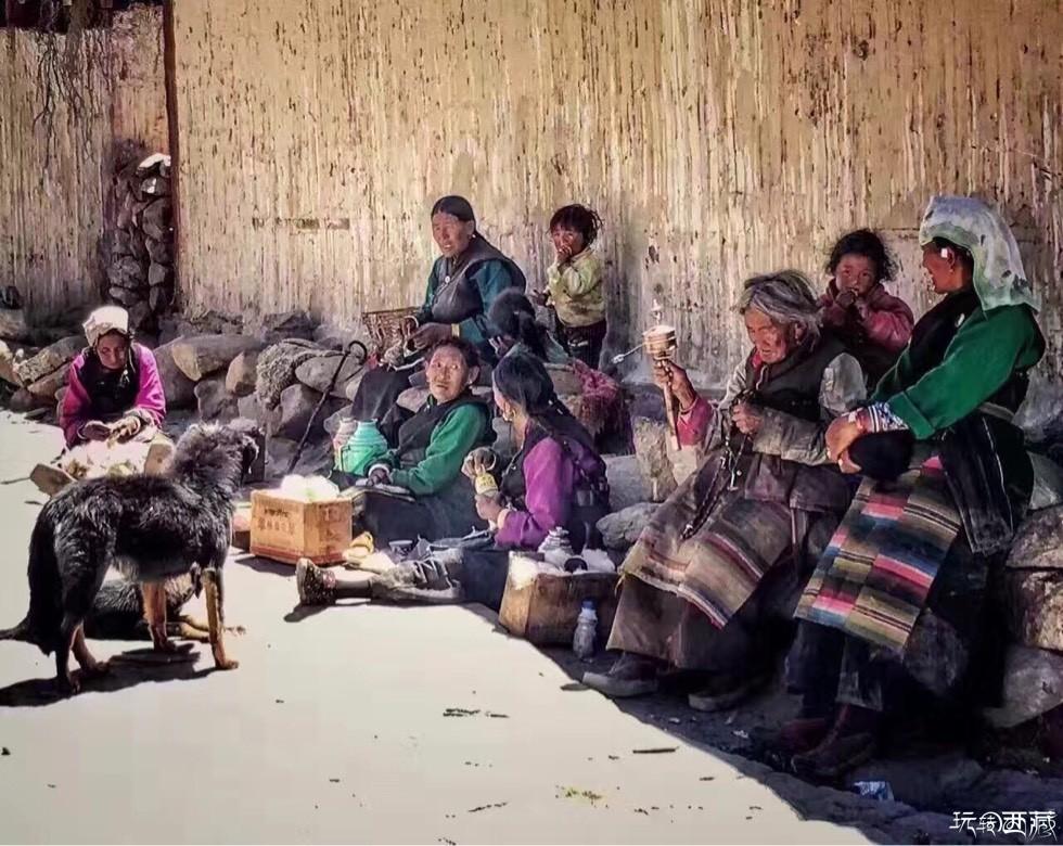 西藏・淳朴老阿妈