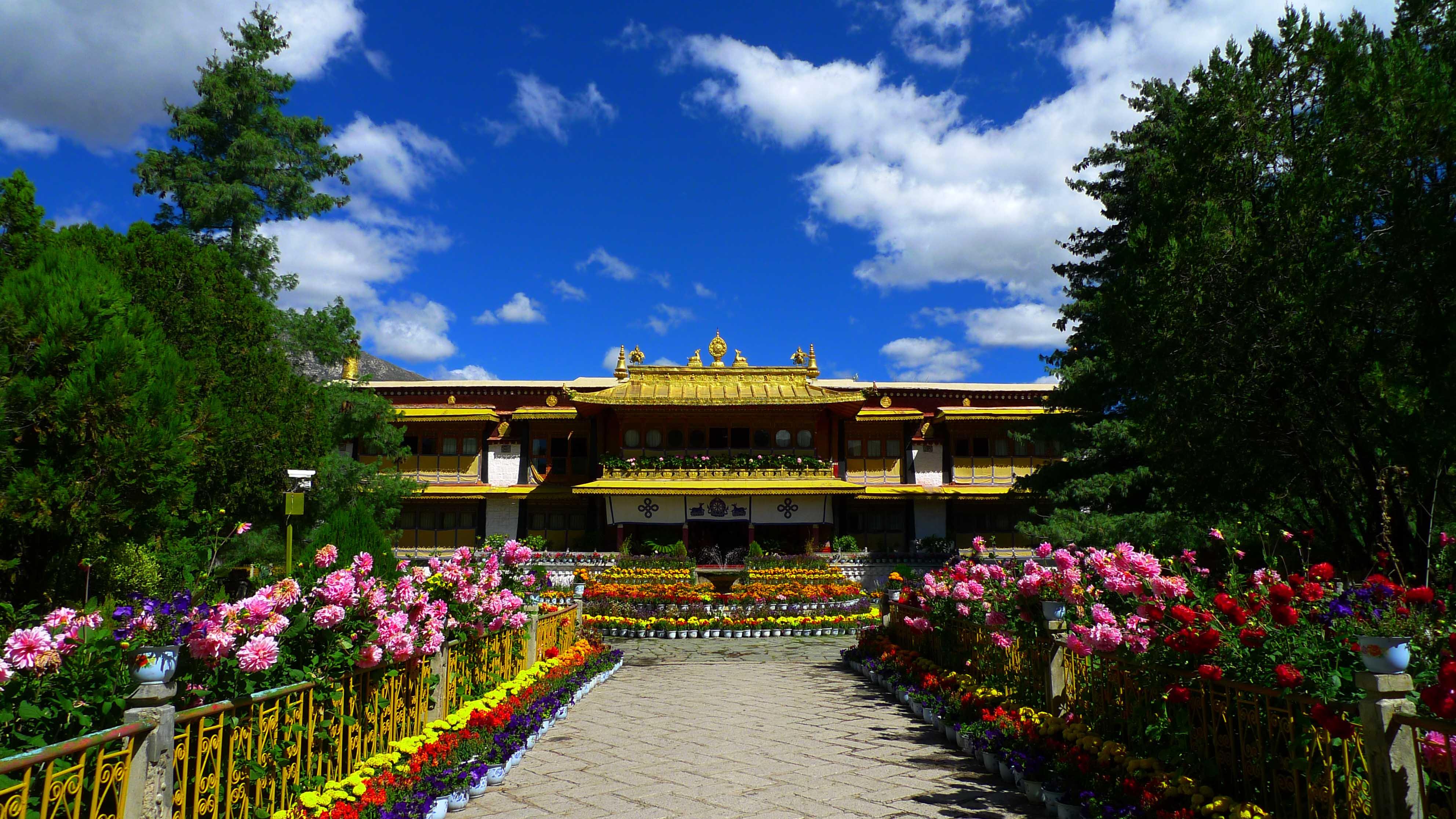 西藏拉萨-罗布林卡,园林,罗布林卡
