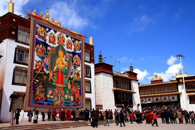 西藏昌都-强巴林寺(西藏历代帕巴拉活佛的住锡寺),强巴林寺,帕巴拉,西藏,昌都