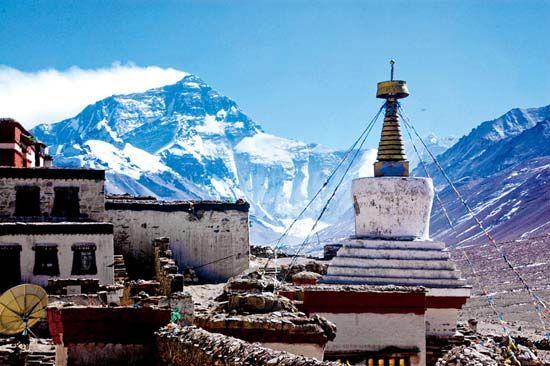 西藏日喀则-绒布寺,日喀则,西藏