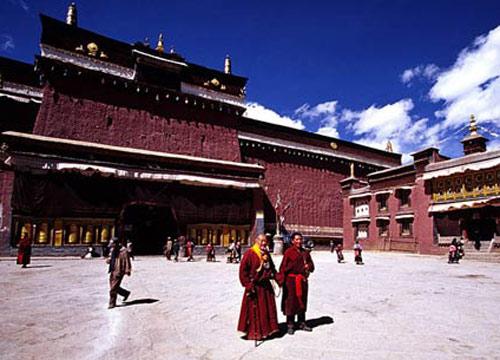 西藏日喀则-萨迦寺,日喀则,萨迦寺,西藏