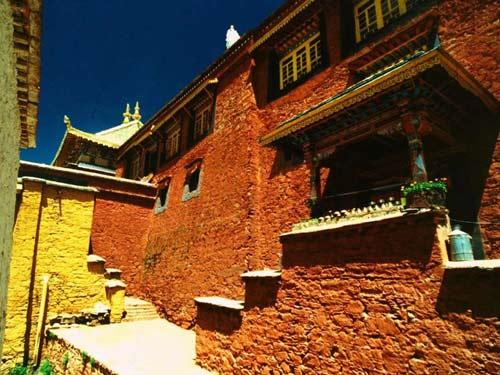 西藏拉萨-甘丹寺,西藏,拉萨
