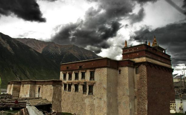 西藏昌都-边坝寺,西藏,西藏自治区,建筑,边坝,昌都