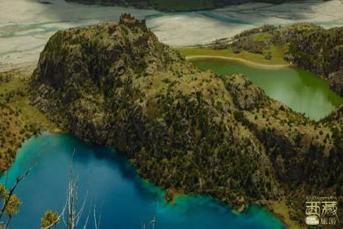 西藏昌都-普玉三色湖奇景,西藏,昌都