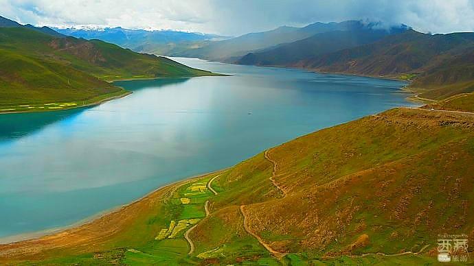 西藏山南-卡久山湖泊,西藏