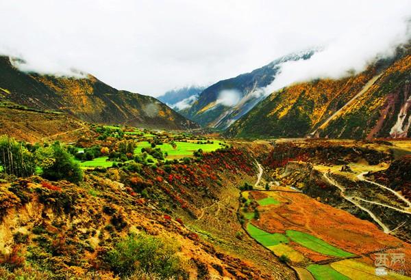 西藏林芝-察隅秋色,西藏,察隅,喜马拉雅山,西藏自治区,云南省