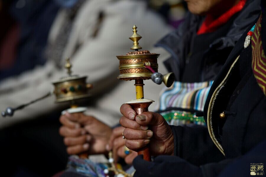 西藏山南-列让沟瀑布,彩虹,西藏,阳光
