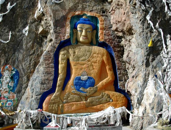 西藏拉萨-聂唐大佛,西藏,拉萨