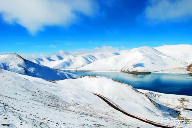 【西藏美图】2015年的第一场雪让羊卓雍错神湖银装素裹....,西藏攻略,西藏美图,西藏故事,西藏百科,西藏旅游