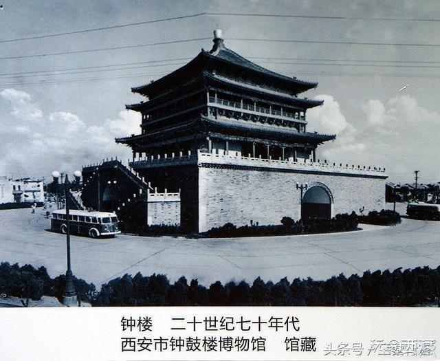 「魅力西安」老照片:西安钟鼓楼难得一见的历史图片